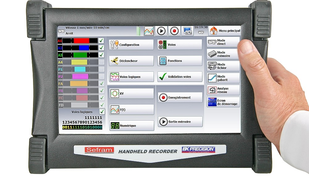 Enregisteur portable DAS50 de Sefram.