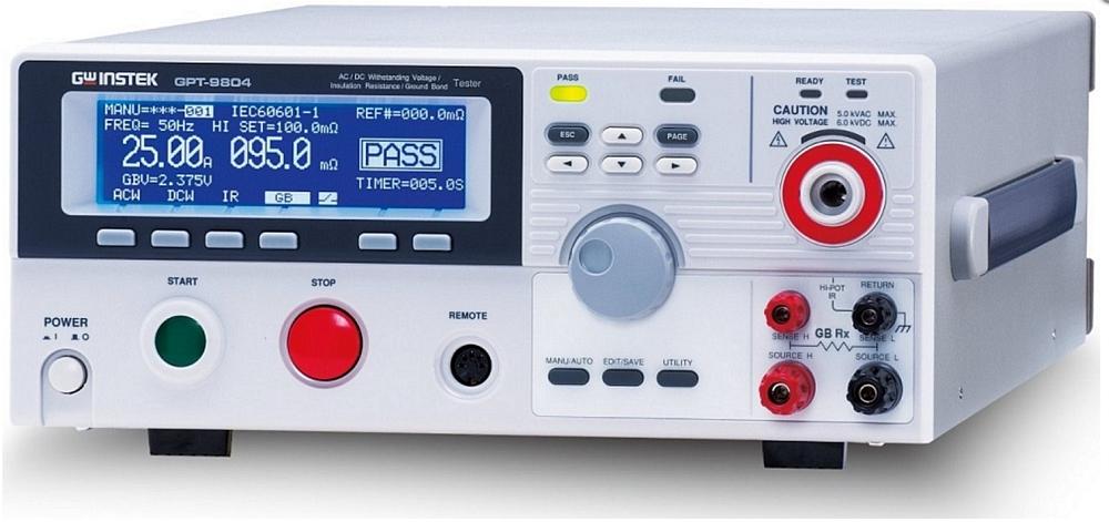 Testeur de sécurité électrique GW Instek GPT-9800