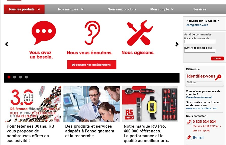 RS Components Home page 2016