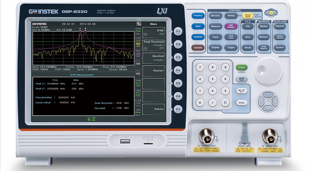 Analyseur de spectre GSP-9330 de GW Instek-
