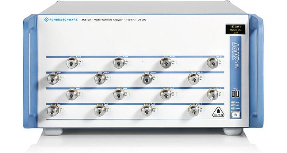 Analyseur de réseau vectoriel multi-port R&S ZNBT20 de Rohde&Schwarz