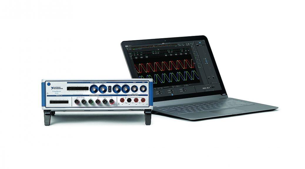 VirtualBench VB-8054 de National Instruments intègre cinq instruments dans le même boîtier