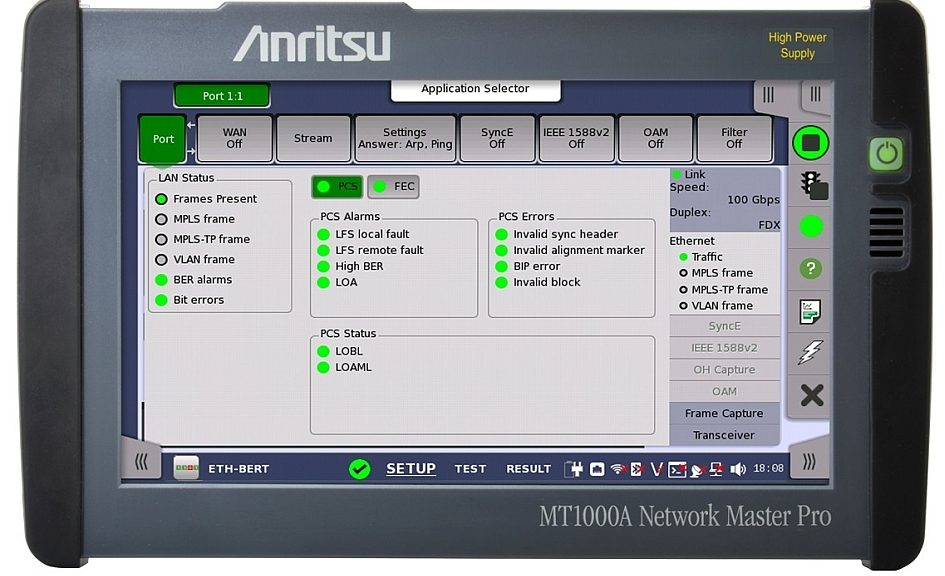 Network Master Pro MT1000A de Anritsu