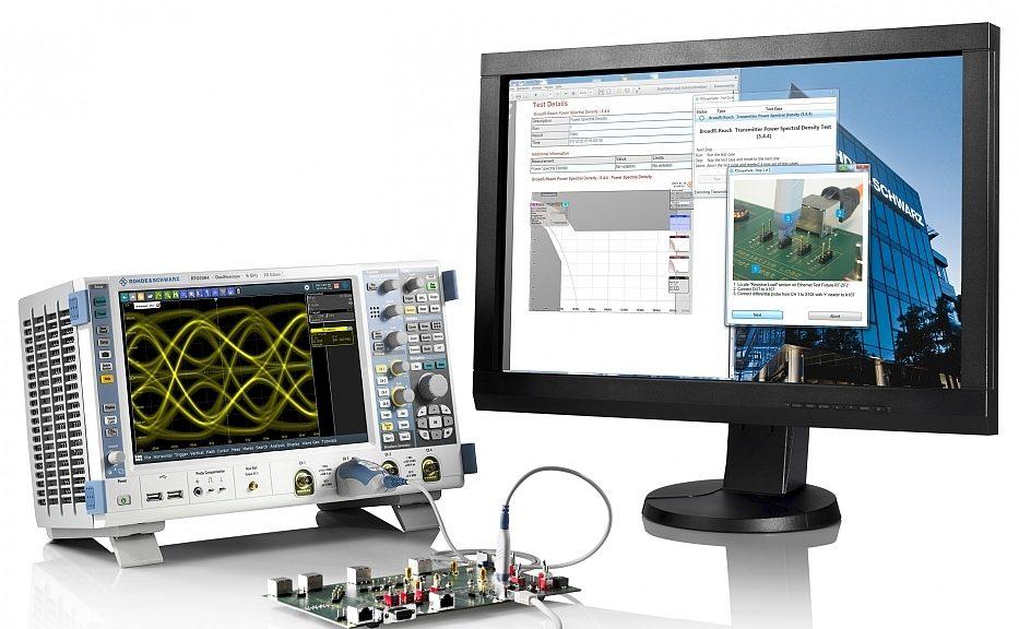 Option logicielle R&S RTO-K87 de Rohde & Schwarz pour test IEEE 1000Base-T1