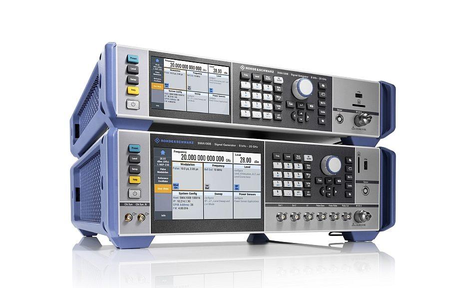 Lesgénérateurs de signaux analogiques R&SSMA100B de Rohde & Schwarz couvrent des fréquences jusqu'à 20 GHz