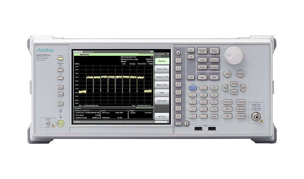 Analyseur de signal MS2850A d'Anritsu pour la 5G