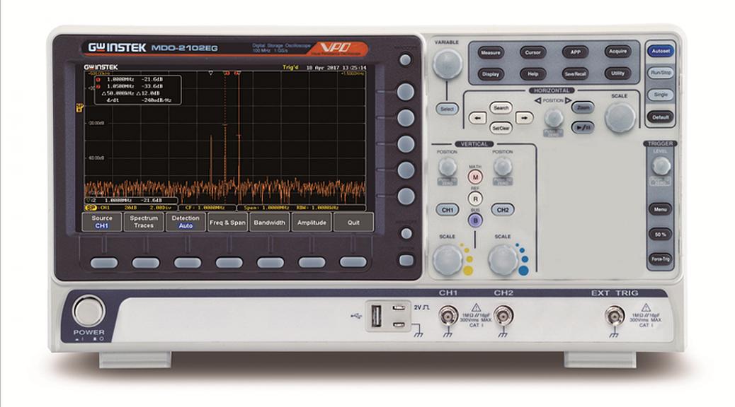 Oscilloscope mutli-domaine MDO-2000EG de GW Instek