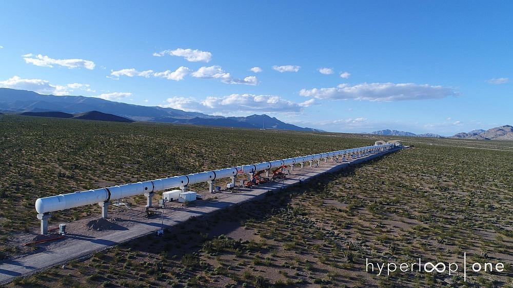 Tube de 500 mètres de l'Hyperloop