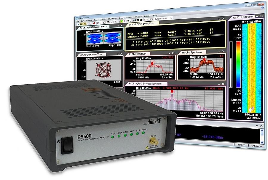 Analyseur de spectre ThinkRF R5500 exploitable avec le logiciel Keysight 89600 VSA