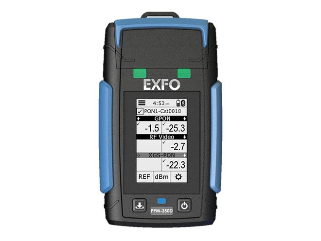 Wattmètre PPM-350D d'Exfo pour réseau optique passif (PON)