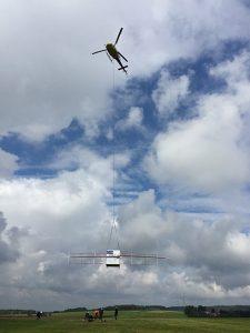 Campagne de tests héliportée du système d'exploration RIME avec l'analyseur RF Fieldfox de Keysight