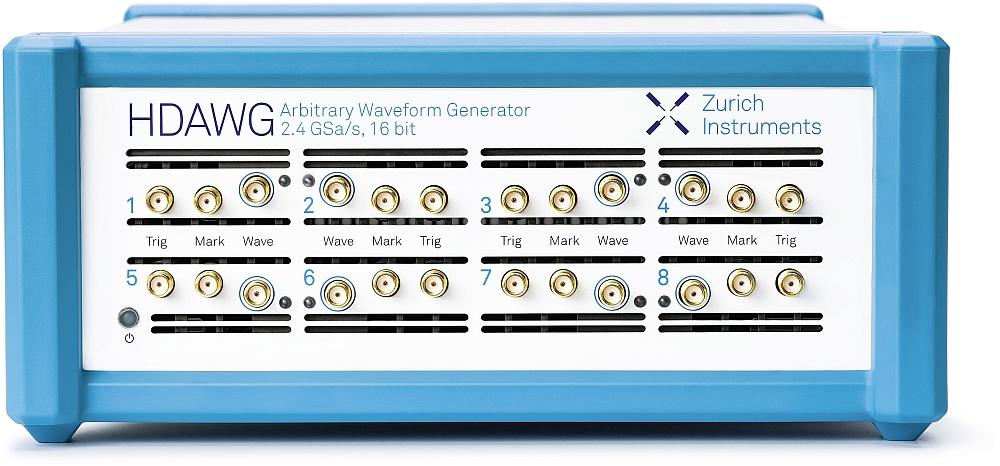 Générateur de signaux arbitraires HDAWG de Zurich Instruments.