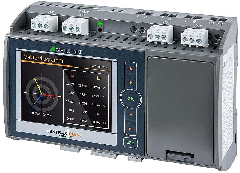 Centrale de contrôle de la qualité électrique Centrax CU5000 de Camille Bauer Metrawatt