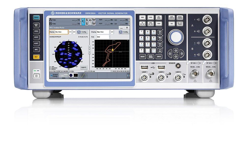 Simulateur GNSS R&S SMW200A multi-fréquences et multi-antennes de Rohde & Schwarz