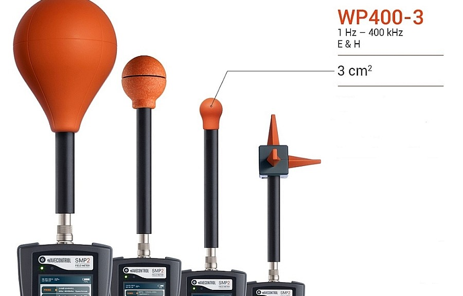 Sondes de champs électromagnétiques WP400 de Wavecontrol