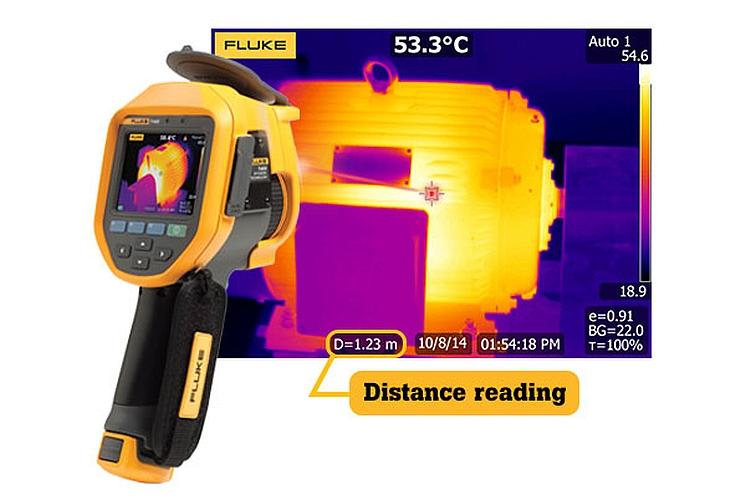 Caméra infrarouge Fluke TI400 avec technologie LaserSharp