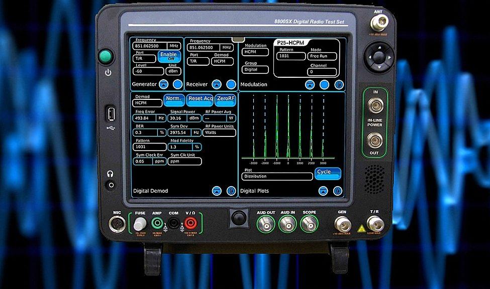 Solution de test radio numérique 8800SX de Cobham