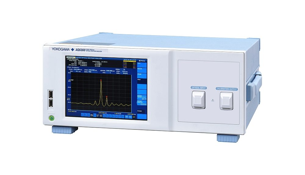 L'analyseur de spectre optique AQ6360 de Yokogawa destiné aux tests en production.