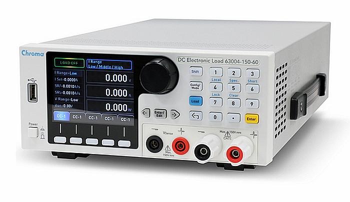 Charges électroniques programmables DC de la série 63000 de Chroma.