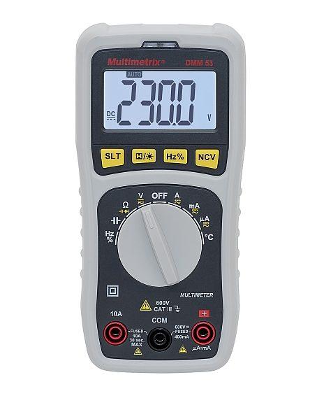Multimètre numérique compact Multimetrix DMM53 de Chauvin Arnoux.