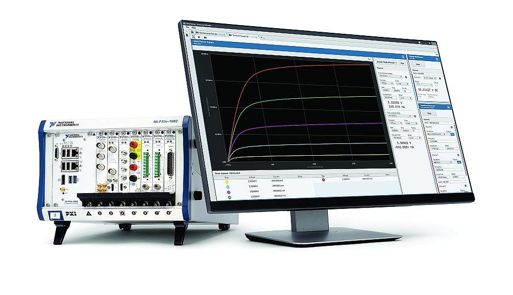 Logiciel InstrumentStudio de National Instruments (NI) pour les systèmes de test automatique au format PXI.