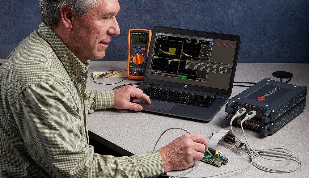Oscilloscopes au format USB de la gamme P924xA de Keysight.