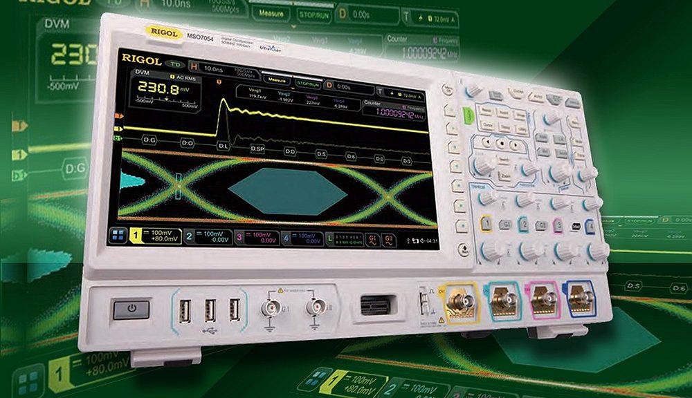 Les oscilloscopes MSO/DS7000 de Rigol couvrent des bandes de fréquences allant de 100MHz à 500MHz.