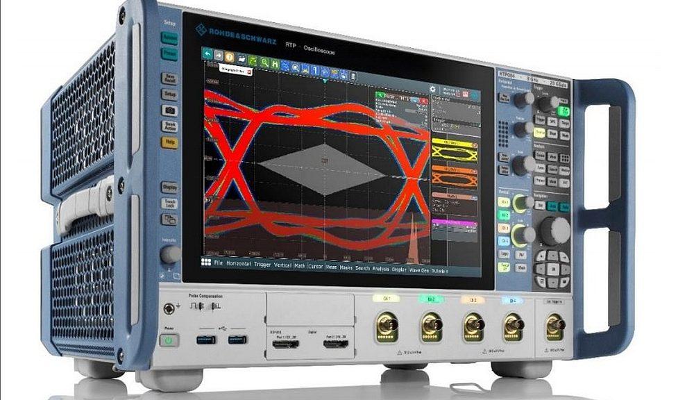 Gamme d'oscilloscopes R&S RTP de Rohde&Schwarz: 4 voies, bandes passantes de 4, 6 ou 8 GHz, et fréquence d'échantillonnage allant jusqu'à 20 Géch./s.