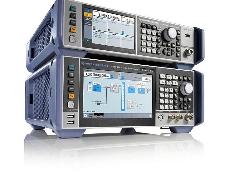 Générateur de signaux RF analogiques R&S SMB100B et générateur de signaux vectoriels R&S SMBV100B de Rohde & Schwarz.