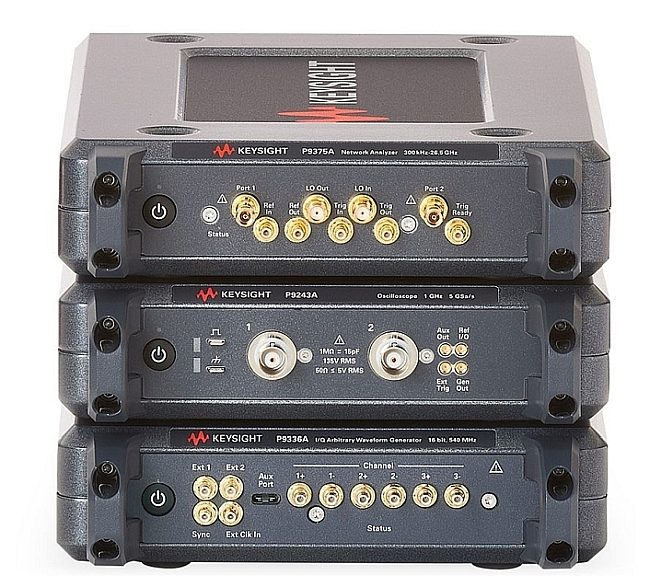 La gamme Keysight Streamline Series comprend trois types d'instruments intégrés dans un boîtier compact sans face avant et contrôlé par PC via une connexion USB.