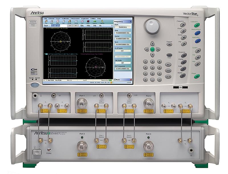 Option de mesure du facteur de bruit différentiel pour les analyseurs de réseau vectoriels VectorStar d'Anritsu.