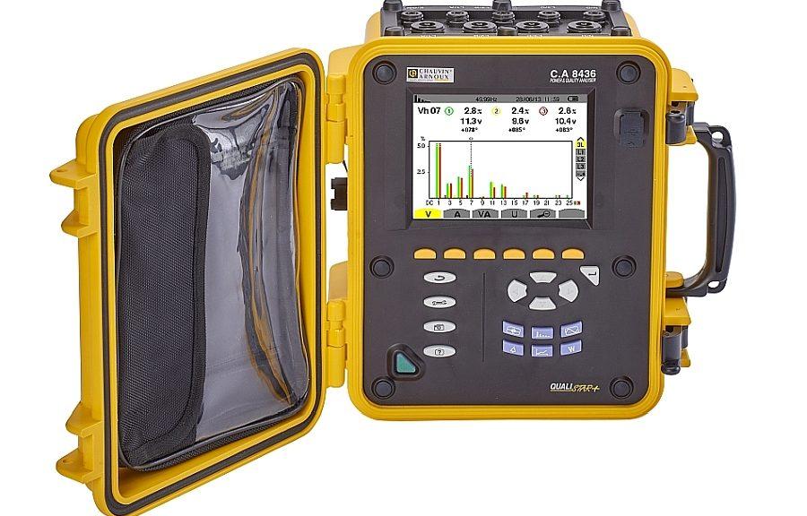 Analyseur de puissance et de qualité d'énergie C.A 8436 Qualistar+ de Chauvin Arnoux.