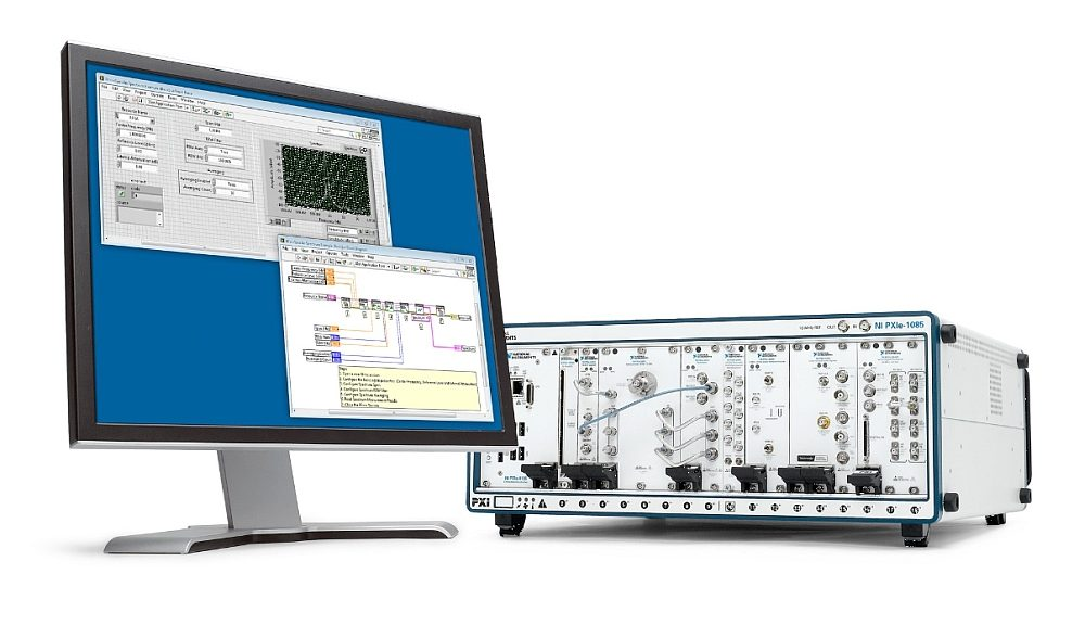 Logiciel de mesure NI-RFmx de National Instruments.