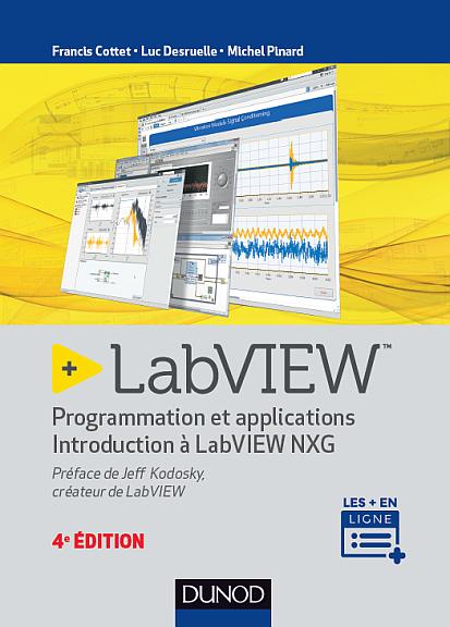 Livre « LabVIEW programmation et applications » édité chez Dunod.