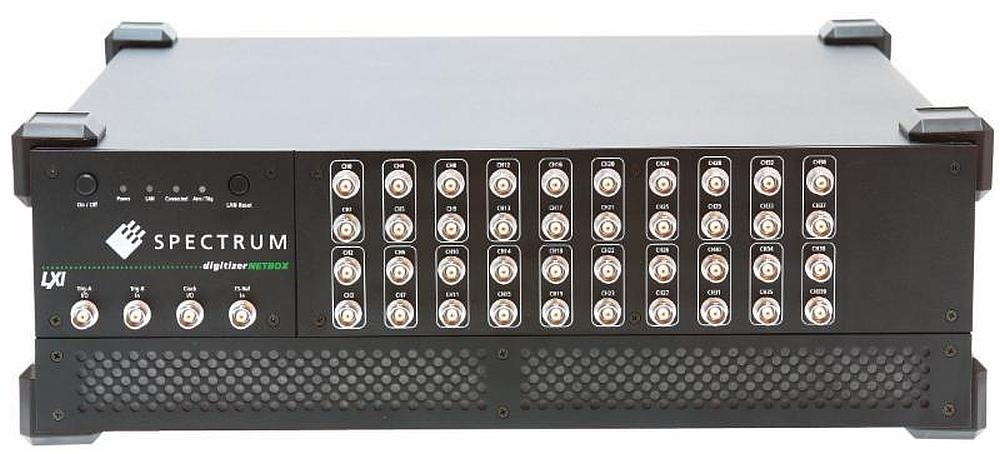 Les numériseurs multi-voies au format LXI de la série DN6.59x de Spectrum Instrumentation.