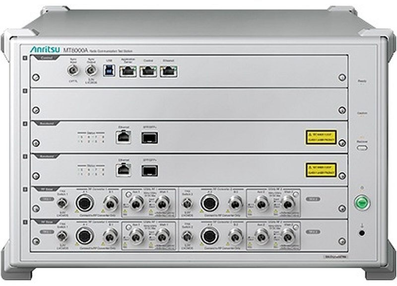 Simulateur de station de base 5G MT8000A d'Anritsu.