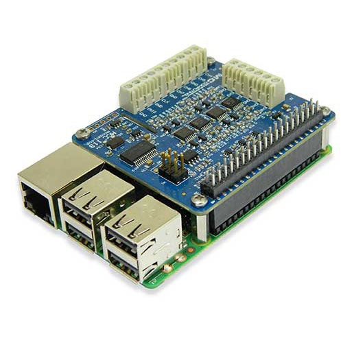 Carte MCC 118 de mesure de tension DAQ HAT pour l'ordinateur Raspberry Pi.