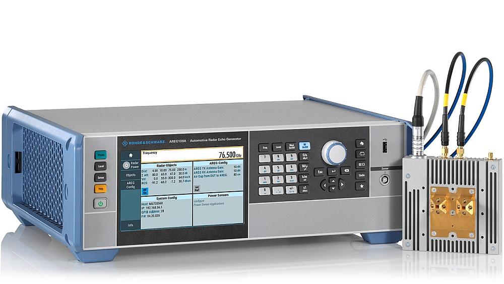 Générateur d'écho radar automobile R&S AREG100A de Rohde & Schwarz.