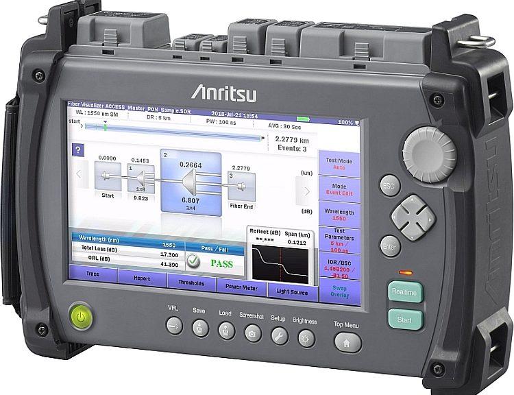 Réflectromètre portable Access Master MT9085 de Anritsu.