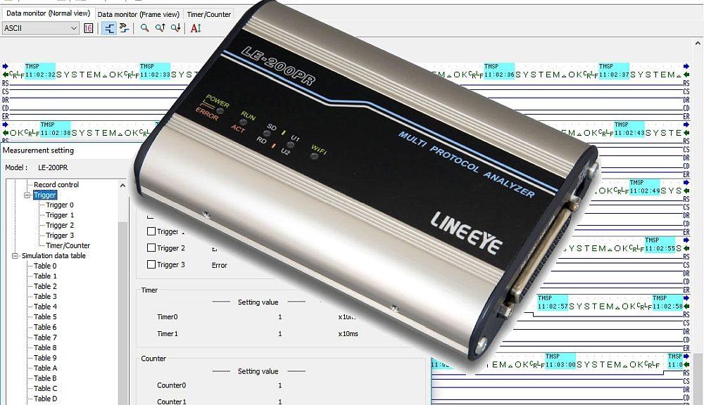 Analyseur de protocoles RS-232C, RS-422/485 LE-200PR de Lineeye.
