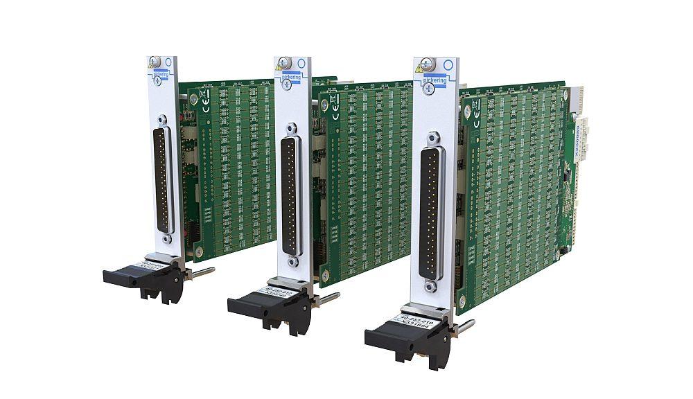 Modules PXI de résistances programmables de la gamme 40-251/2/2/3 de Pickering Interfaces.
