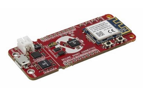 Carte de développement IoT (AC164160) proposée par RS Components.