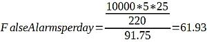 Equation pour calcul de fausse alarme en SPC