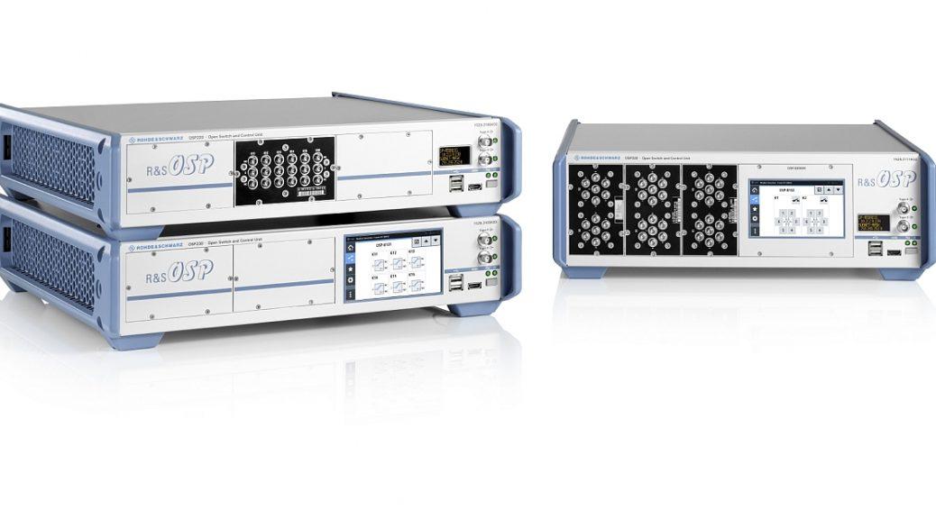 Unités de commutations R&S OSP220/230/320 de Rohde & Schwarz.