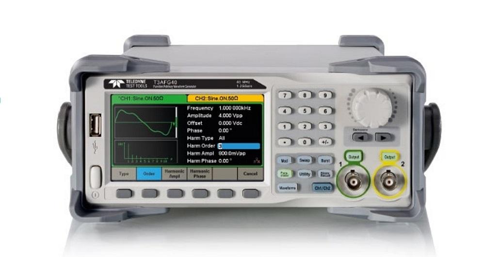 Générateur de fonctions et de signaux arbitraires de la série T3AFG de Teledyne Test Tools.