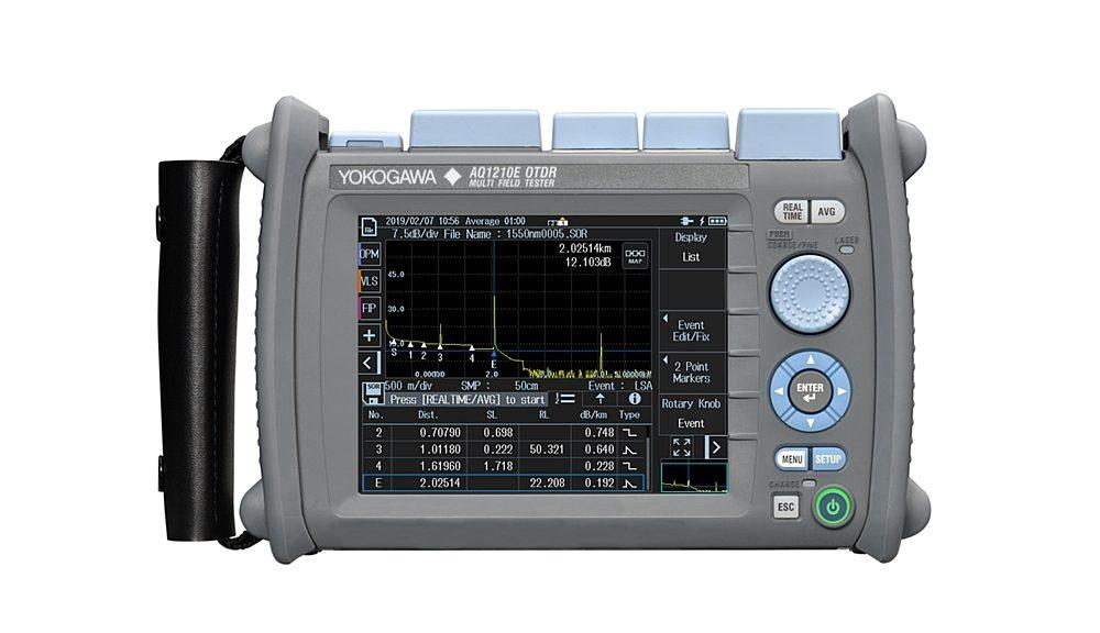 Réflectomètre optique portable (OTDR) AQ1210 de Yokogawa.