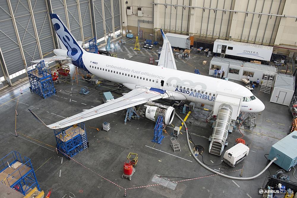 Test par l'Onera d'Airbus A320 NEO