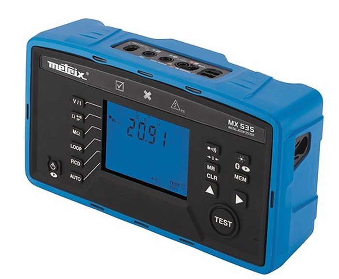 Contrôleur d'installations électriques MX 535 de Metrix.