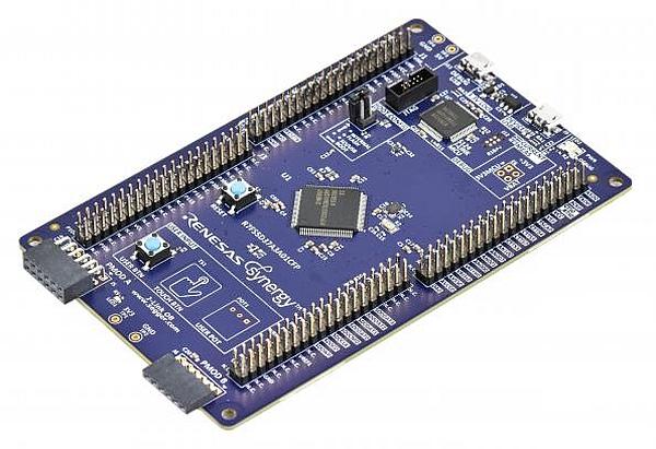 Microcontrôleur Synergy S5D3 de Renesas.