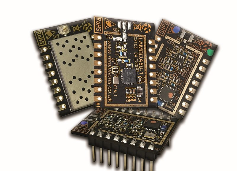 Modules de communication LoRa de RF Solutions.